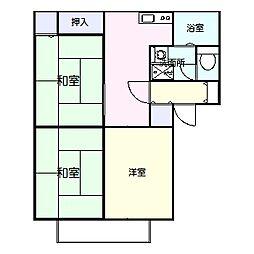 高知県高知市万々の賃貸アパートの間取り