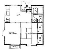 神奈川県横浜市戸塚区汲沢7の賃貸アパートの間取り