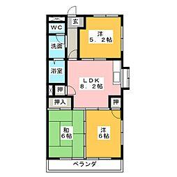 レジデンス徳田[1階]の間取り
