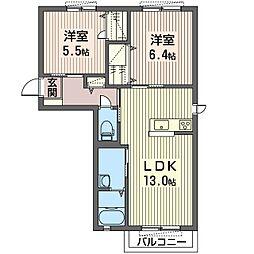 エトワール B[2階]の間取り