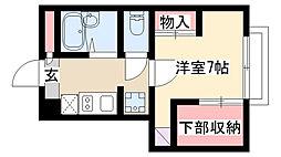 愛知県名古屋市瑞穂区雁道町3丁目の賃貸アパートの間取り