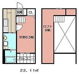 レオーネ西小倉[101号室]の間取り