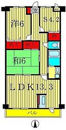 AXIS KASHIWA[7階]の間取り