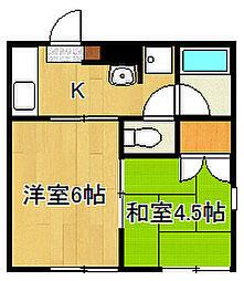 コアカワムラ[103号室]の間取り