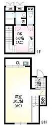 仮)翠川ビル 1階1DKの間取り