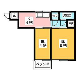 木村ビル (中村・白子)[4階]の間取り
