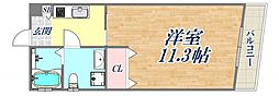 BENISSIMO西宮 2階ワンルームの間取り