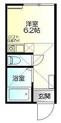 神奈川県川崎市川崎区渡田東町の賃貸アパートの間取り