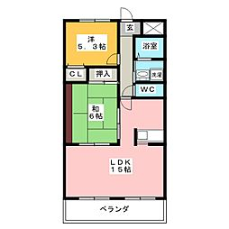 WEST[3階]の間取り