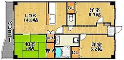 ラフォーレ小笹[4階]の間取り