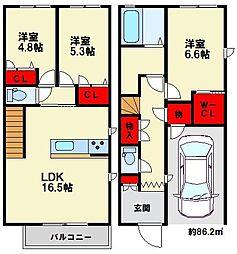 メゾン藤蔵[1階]の間取り