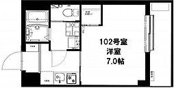 ビーカーサ横濱大口[1階]の間取り