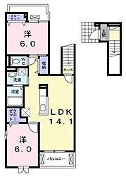 カーサ セレーナ[2階]の間取り