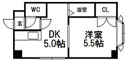 ピュアコート南郷[4階]の間取り