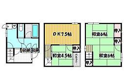 [一戸建] 大阪府大阪市鶴見区横堤2丁目 の賃貸【/】の間取り
