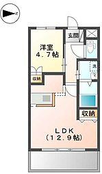 宇土新築マンション[1階]の間取り