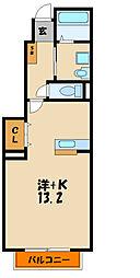 兵庫県明石市貴崎3丁目の賃貸アパートの間取り