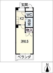 プリオ−ルK[1階]の間取り