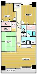 サワードゥー住之江公園[802号室]の間取り
