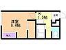 間取り,1K,面積23.18m2,賃料2.4万円,JR学園都市線 拓北駅 徒歩3分,バス 中央バス拓北4条2丁目下車 徒歩1分,北海道札幌市北区拓北五条2丁目9番1号