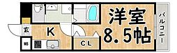 Osaka Metro谷町線 平野駅 徒歩3分の賃貸マンション 10階1Kの間取り