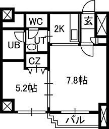 ISグランデ札幌[00303号室]の間取り