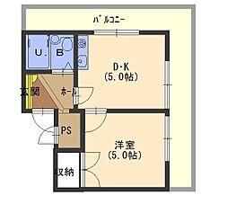 エリータ守口[4階]の間取り