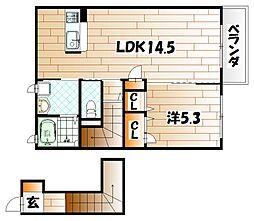 エスタシオン[2階]の間取り