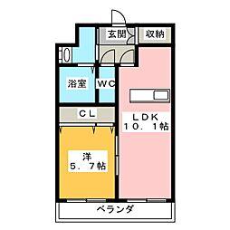 ザ・レジデンス小豆餅[5階]の間取り