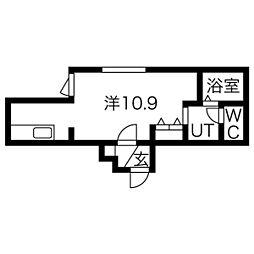 Roi Chambre(ロワシャンブル)[502号室]の間取り