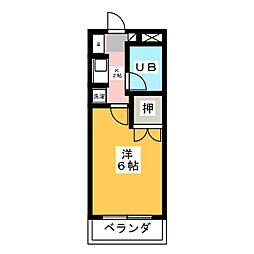 大仁マンションII[1階]の間取り