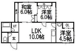 コーポ土井[2階]の間取り