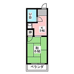 コーポシンコーB棟[2階]の間取り