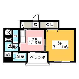 アイムリオII[5階]の間取り