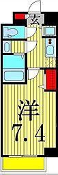 Apartment桜[3階]の間取り