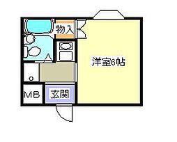 シャルム山村[2階]の間取り