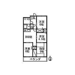 オーネストマンション[202号室]の間取り