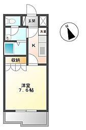 埼玉県行田市桜町2丁目の賃貸アパートの間取り
