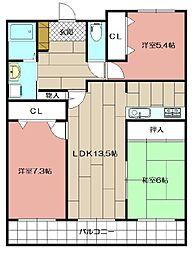 メディックス三萩野レジデンシャルタワー 1503[1503号室]の間取り