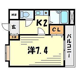 フォンテーヌ武庫之荘[1階]の間取り