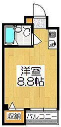 京都府京都市南区西九条島町の賃貸マンションの間取り