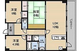 Osaka Metro長堀鶴見緑地線 今福鶴見駅 徒歩3分の賃貸マンション 7階3LDKの間取り