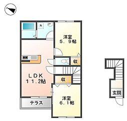 仮)杉新築アパート[2階]の間取り