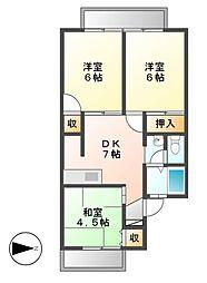 ヴァンベールヤチヨII[2階]の間取り