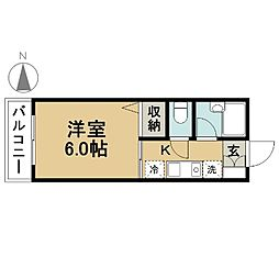 東京都江戸川区東葛西8丁目の賃貸アパートの間取り