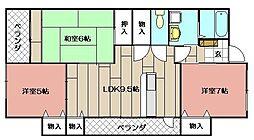 レリディアンスビューマ[101号室]の間取り