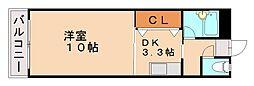 セントラルヒル城南Ⅱ[5階]の間取り
