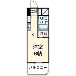 Jフラッツ川口本町[306号室]の間取り