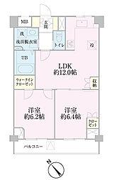中新井サンライトマンション[204号室]の間取り