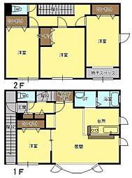 [テラスハウス] 北海道札幌市東区北三十四条東1丁目 の賃貸【/】の間取り